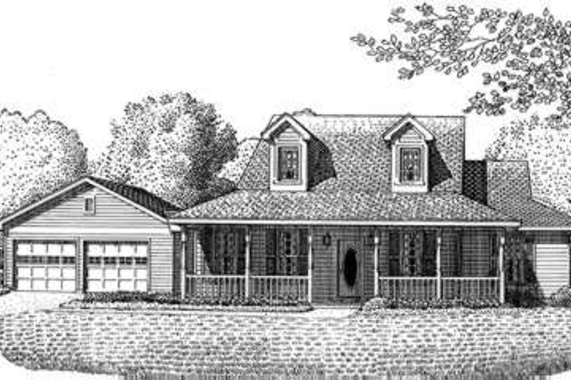Tudor Exterior - Front Elevation Plan #410-284