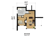 Contemporary Style House Plan - 2 Beds 1 Baths 1156 Sq/Ft Plan #25-4585 Floor Plan - Lower Floor Plan