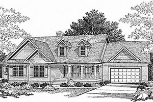 Traditional Exterior - Front Elevation Plan #70-286