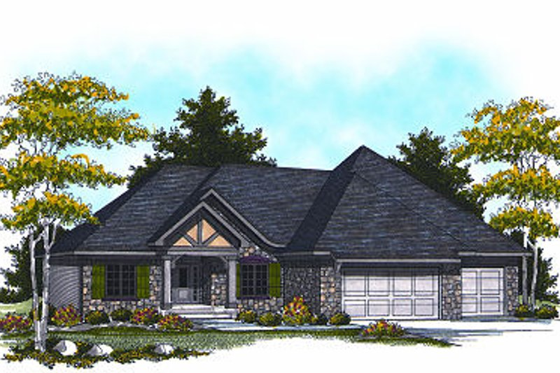 European Exterior - Front Elevation Plan #70-868