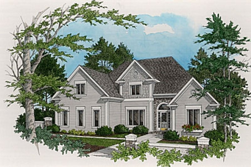 Home Plan Design - Traditional Exterior - Front Elevation Plan #56-210