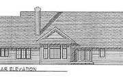 Traditional Style House Plan - 3 Beds 2 Baths 2115 Sq/Ft Plan #70-306 Exterior - Rear Elevation