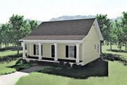 Cottage Style House Plan - 3 Beds 2 Baths 1260 Sq/Ft Plan #44-175 Exterior - Front Elevation