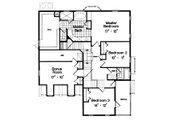 Traditional Style House Plan - 3 Beds 2.5 Baths 2468 Sq/Ft Plan #417-271 Floor Plan - Upper Floor Plan