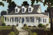 Colonial Exterior - Front Elevation Plan #3-254