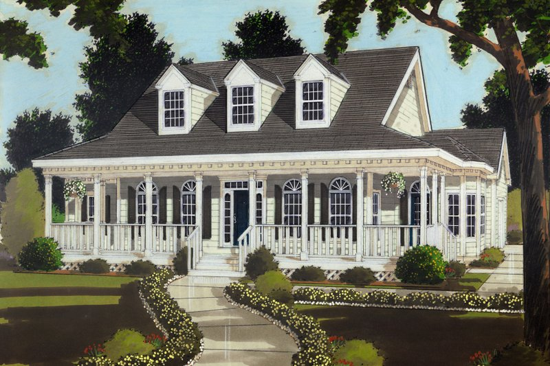 Dream House Plan - Colonial Exterior - Front Elevation Plan #3-254