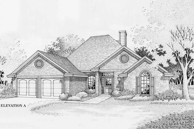 Traditional Style House Plan - 3 Beds 2 Baths 1816 Sq/Ft Plan #310-767 Exterior - Front Elevation