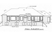 Traditional Style House Plan - 3 Beds 2.5 Baths 1508 Sq/Ft Plan #58-165 Exterior - Rear Elevation