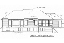 House Design - Traditional Exterior - Rear Elevation Plan #58-165