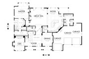 Country Style House Plan - 5 Beds 4.5 Baths 4574 Sq/Ft Plan #48-619 Floor Plan - Main Floor Plan