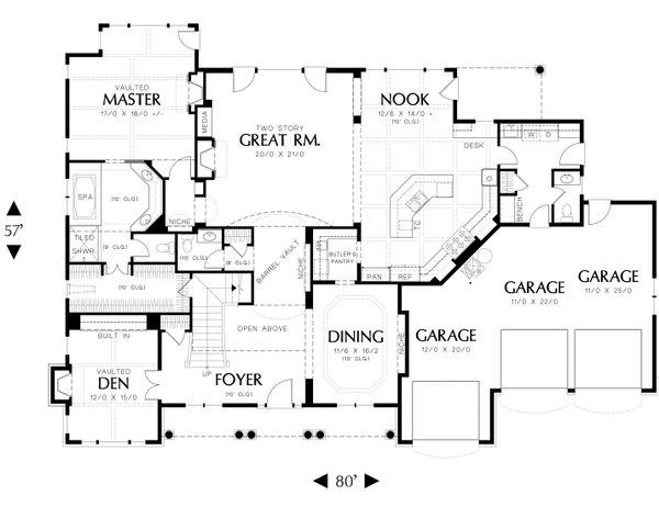 Country Floor Plan - Main Floor Plan #48-619