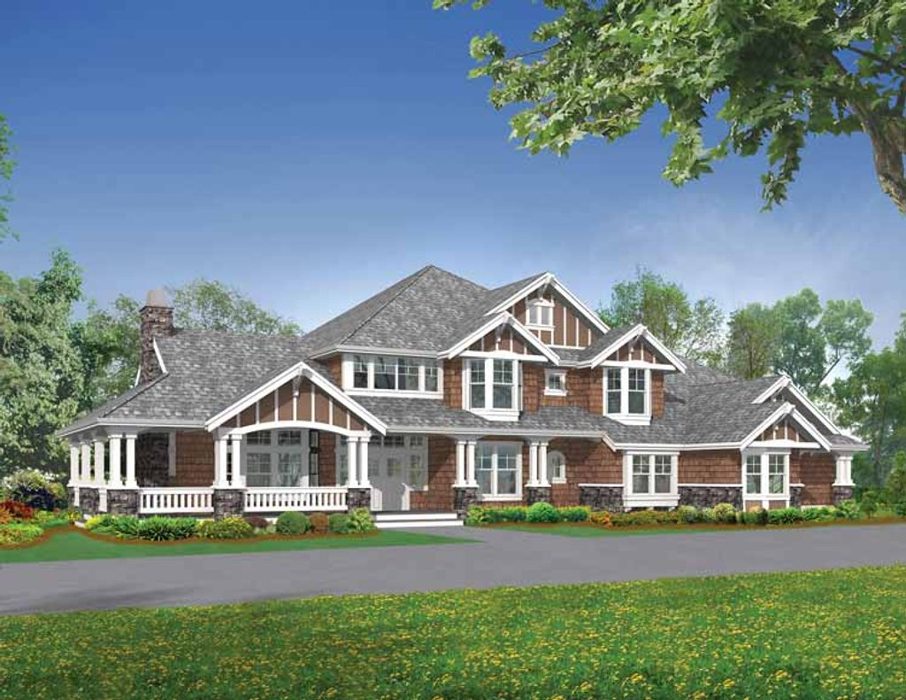 Craftsman style house plan 4 beds 4 5 baths 6590 sq ft for Homplans