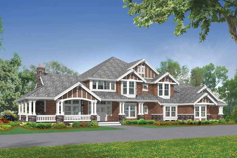 Architectural House Design - Craftsman Exterior - Front Elevation Plan #132-336