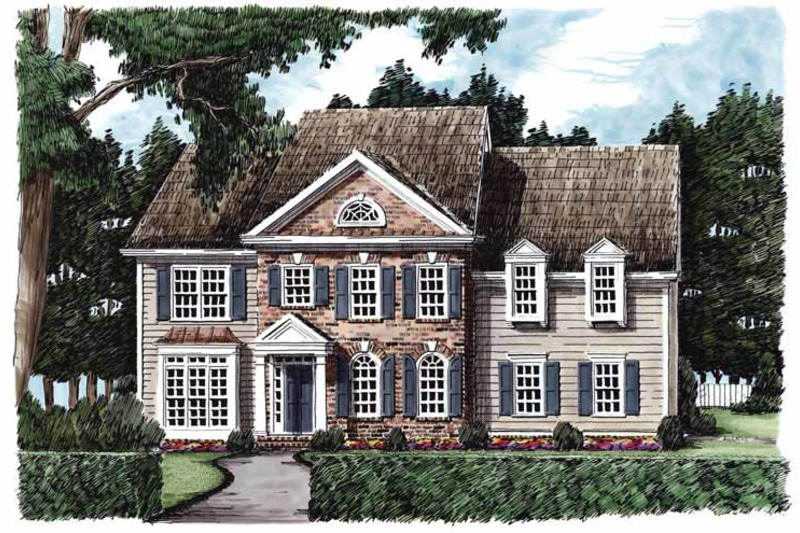 Classical Exterior - Front Elevation Plan #927-595 - Houseplans.com
