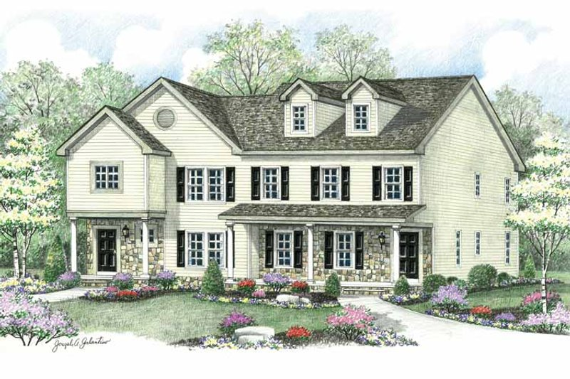 Colonial Exterior - Front Elevation Plan #1002-22 - Houseplans.com
