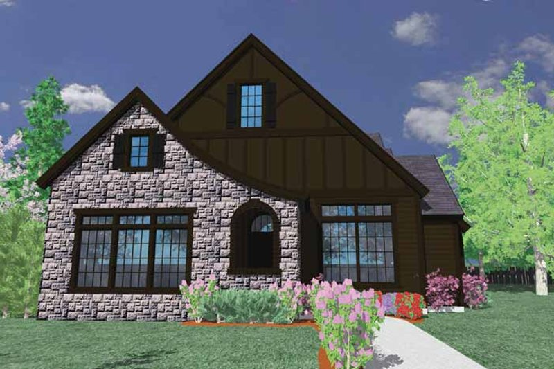 Country Exterior - Front Elevation Plan #509-306