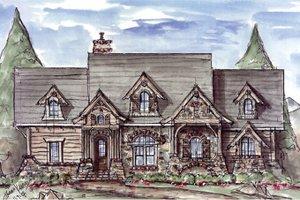 House Design - Craftsman Exterior - Front Elevation Plan #54-369