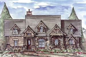 House Design - Craftsman Exterior - Front Elevation Plan #54-369