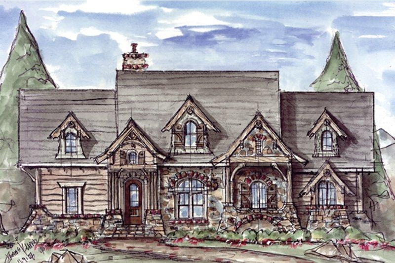Craftsman Exterior - Front Elevation Plan #54-369
