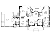 Colonial Floor Plan - Main Floor Plan Plan #417-812