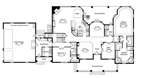 House Plan Design - Colonial Floor Plan - Main Floor Plan #417-812