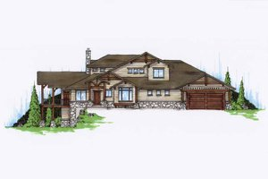 Craftsman Exterior - Front Elevation Plan #945-114
