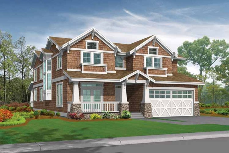 Dream House Plan - Craftsman Exterior - Front Elevation Plan #132-444