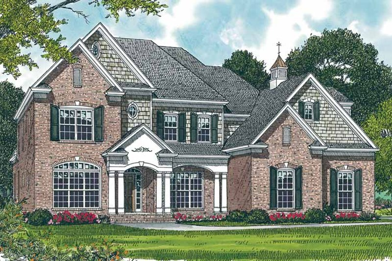 Dream House Plan - Traditional Exterior - Front Elevation Plan #453-304