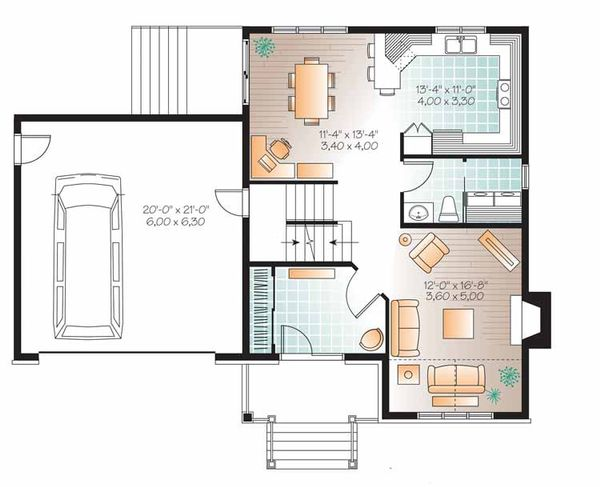 Country Floor Plan - Main Floor Plan Plan #23-2543