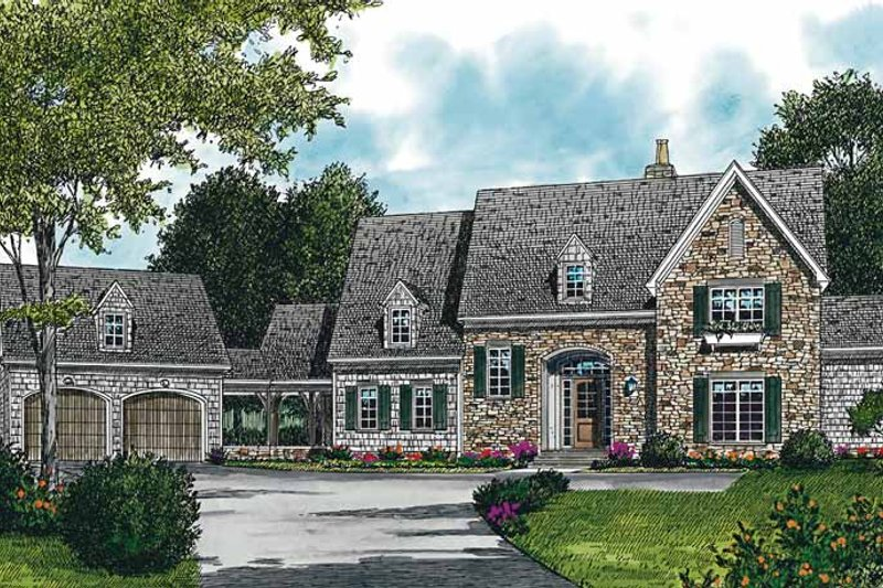 Country Exterior - Front Elevation Plan #453-227