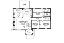 Contemporary Floor Plan - Main Floor Plan Plan #46-841