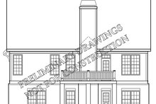 House Plan Design - Colonial Exterior - Rear Elevation Plan #927-973