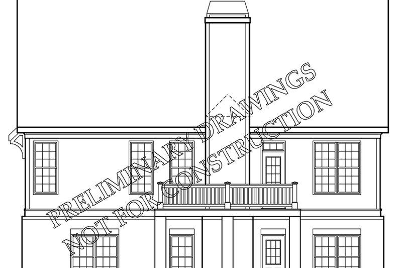 Colonial Exterior - Rear Elevation Plan #927-973 - Houseplans.com