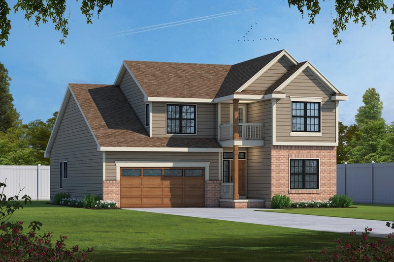 Home Plan - Traditional Exterior - Front Elevation Plan #20-1713