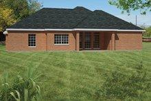 Ranch Exterior - Rear Elevation Plan #1061-17