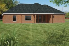 Ranch Exterior - Rear Elevation Plan #1061-17