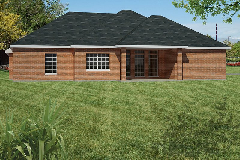 Ranch Exterior - Rear Elevation Plan #1061-17 - Houseplans.com
