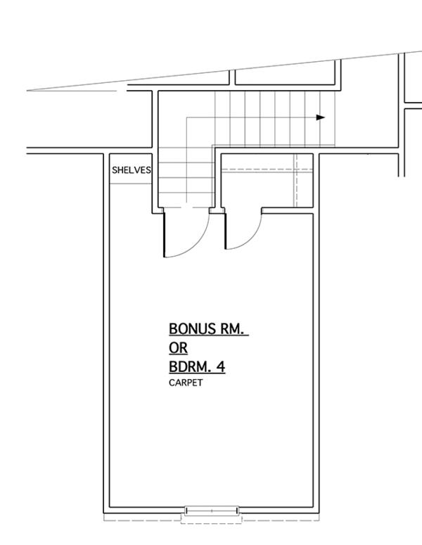 Colonial Floor Plan - Other Floor Plan Plan #1053-68