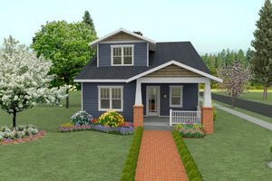 Craftsman Exterior - Front Elevation Plan #461-41