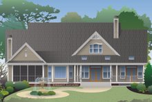 Ranch Exterior - Rear Elevation Plan #929-1004