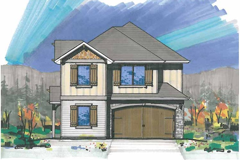 Traditional Exterior - Front Elevation Plan #509-252 - Houseplans.com