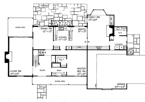 Floor Plan - Main Floor Plan Plan #72-635