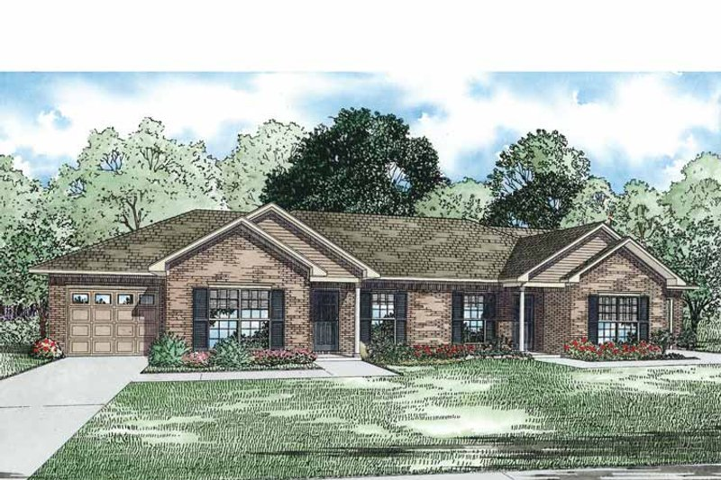 Traditional Exterior - Front Elevation Plan #17-3334 - Houseplans.com