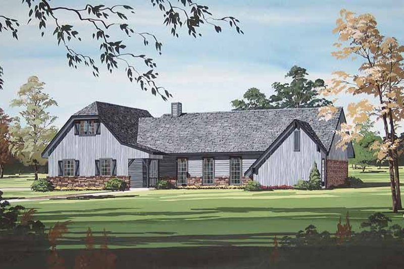 Traditional Exterior - Front Elevation Plan #45-402 - Houseplans.com