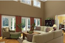 Dream House Plan - Country Interior - Family Room Plan #929-18
