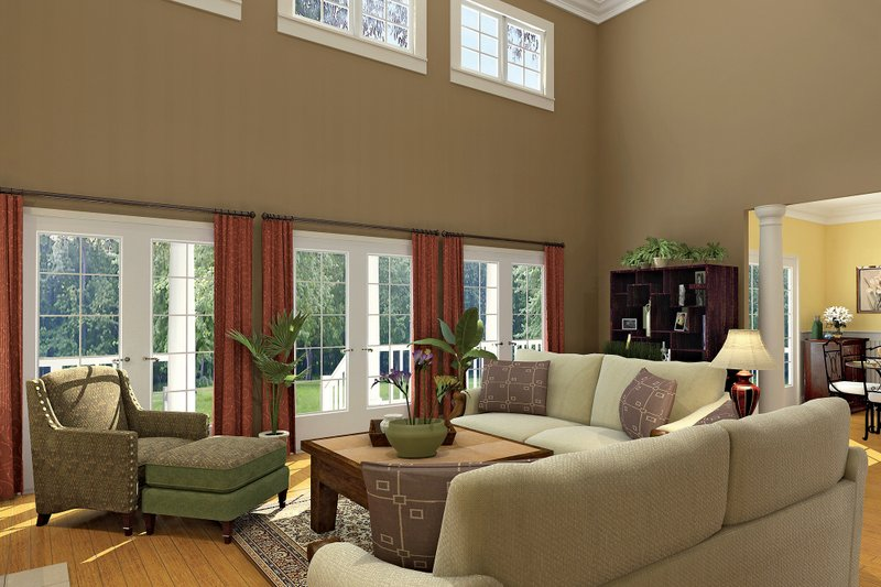 Country Interior - Family Room Plan #929-18 - Houseplans.com