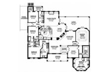 Mediterranean Floor Plan - Main Floor Plan Plan #1058-81