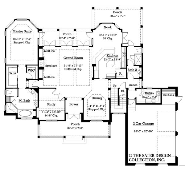 Traditional Floor Plan - Main Floor Plan Plan #930-11