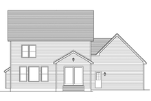 Colonial Exterior - Rear Elevation Plan #1010-67