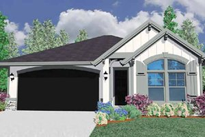 Architectural House Design - Traditional Exterior - Front Elevation Plan #509-179